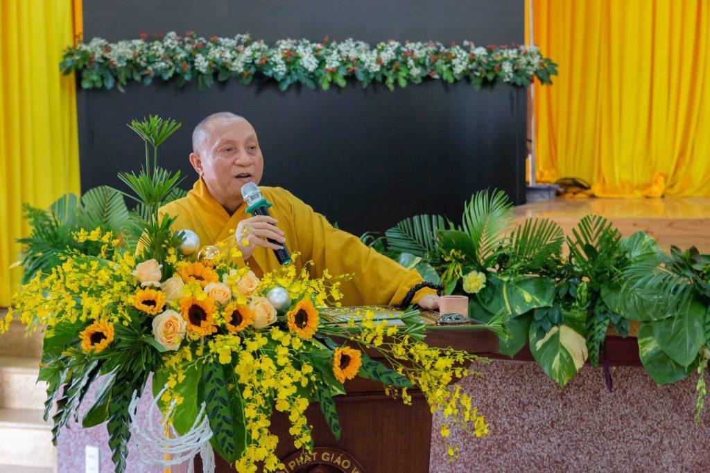 Hòa thượng Thích Gia Quang phát biểu khai mạc