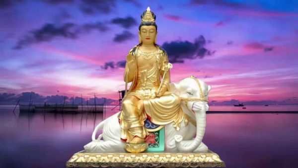 Phật Phổ Hiền Bồ Tát hộ mệnh cho tuổi Tỵ giúp kiềm chế nóng nảy, hỗ trợ sự nghiệp, tránh xa nguy cơ đổ vỡ.