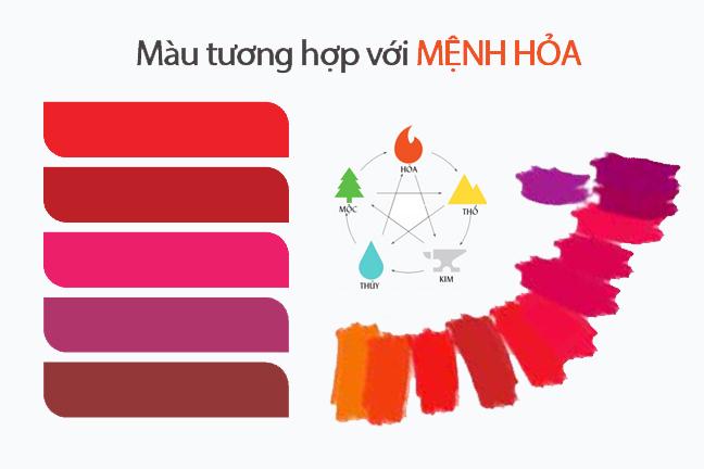 Đỏ, tím là những màu hợp hợp với mệnh này